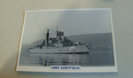 1971 HMS Sheffield Destroyer  warship framed picture